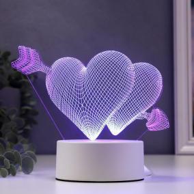 """3D светильник """"Влюбленные сердца"""" от 990 руб"""