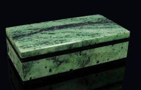 Каменная шкатулка для колец из цоизита от 9 910 руб
