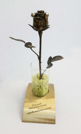 """Бронзовый сувенир """"Роза для самой обаятельной и привлекательной"""" от 11 700 руб"""