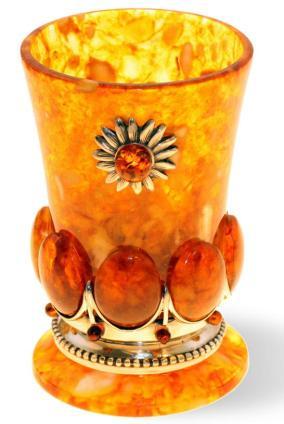 Стопка для водки из камня (янтарь) от 11 740 руб