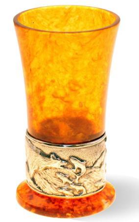 Стопка для водки, из камня (янтарь.) от 10 030 руб