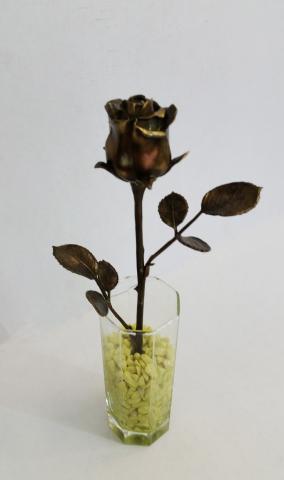 """Бронзовый сувенир """"Роза в стакане"""" от 9 100 руб"""
