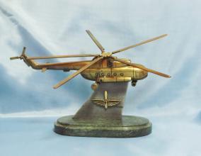 """Бронзовый сувенир """"Вертолет"""" (вертолет собран из 13 деталей) от 9 800 руб"""
