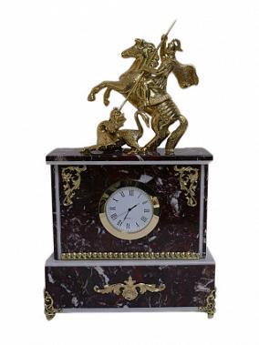 """Подарочные каминные часы """"Георгий Победоносец"""" от 14 950 руб"""