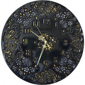 """Часы """"Цветочный Букет"""" черные с серебром от 6 650 руб"""