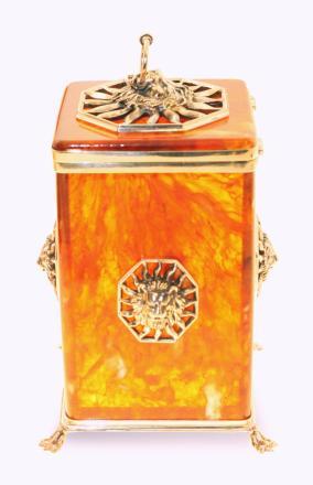 Коробочка для чая, из янтаря от 28 870 руб