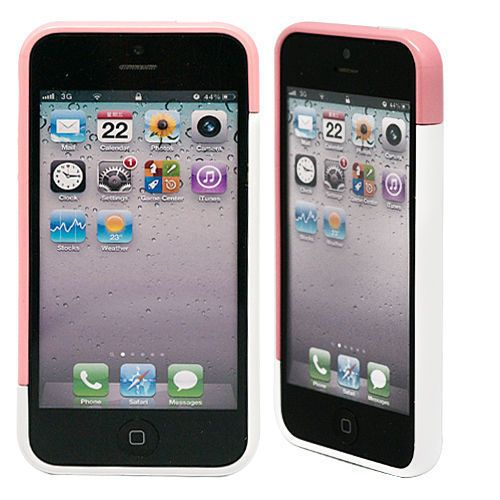 "Бампер для iPhone 5/5s ""Candy colors - pink & white"" купить"