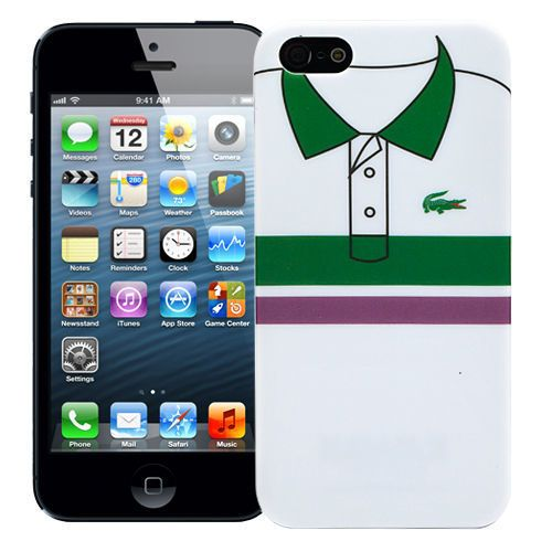 "Чехол для iPhone 5 ""Green & purple stripes"" купить"