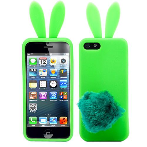 "Чехол для iPhone 5 ""Bunny"" (зеленый) Kawaii купить"