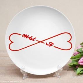 Тарелка с текстом
