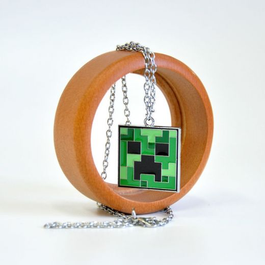 "Кулон на цепочке ""Minecraft Creeper Necklace"" купить"