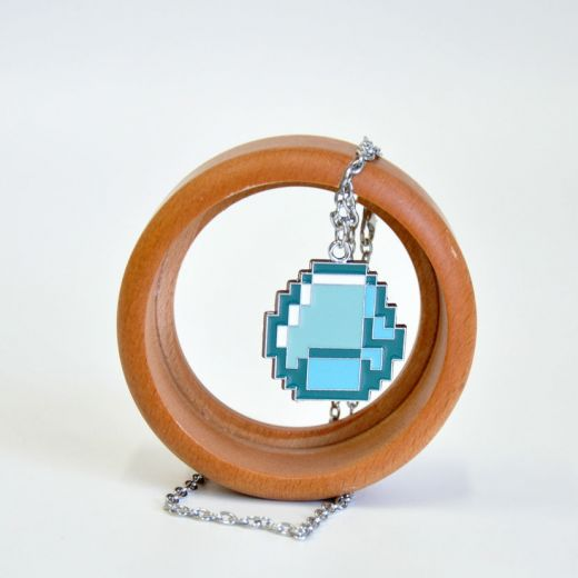 Кулон на цепочке Minecraft Diamond Pendant Necklace купить