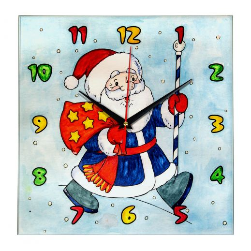 """Часы раскраска для детей """"Дед мороз несет подарки"""" за 940 ..."""