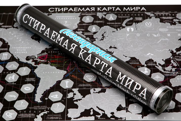 "Скретч карта мира ""Платинум Блэк Эдишн"" (Platinum Black Edition) купить"