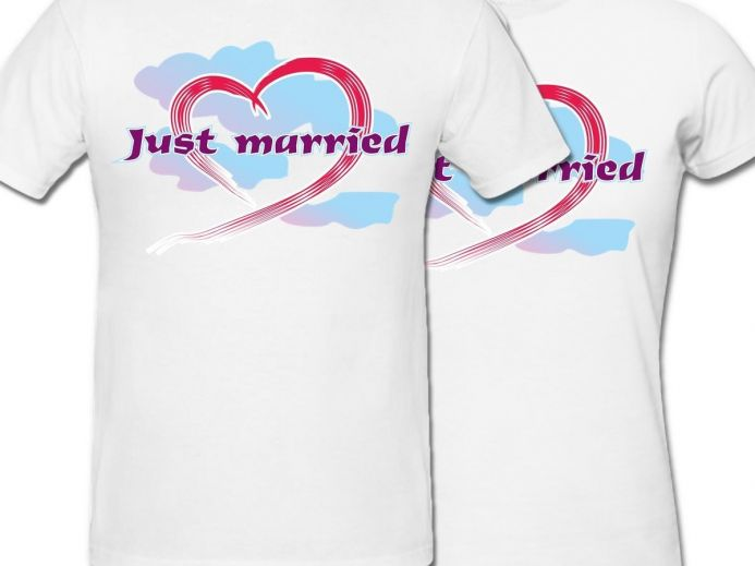 Комплект футболок *JUST MARRIED* купить