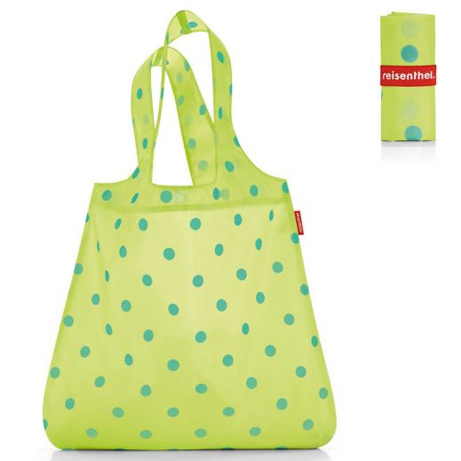 Сумка складная Mini maxi shopper dots green купить