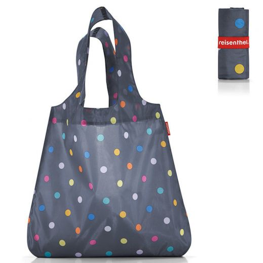 Сумка складная Mini maxi shopper dots grey купить