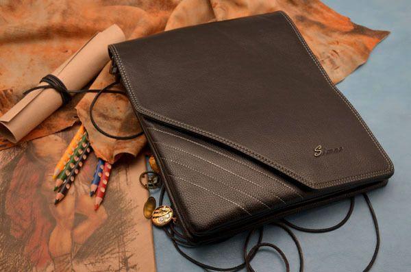 Мужская сумка-планшет Mont Blanc черная, арт 1183