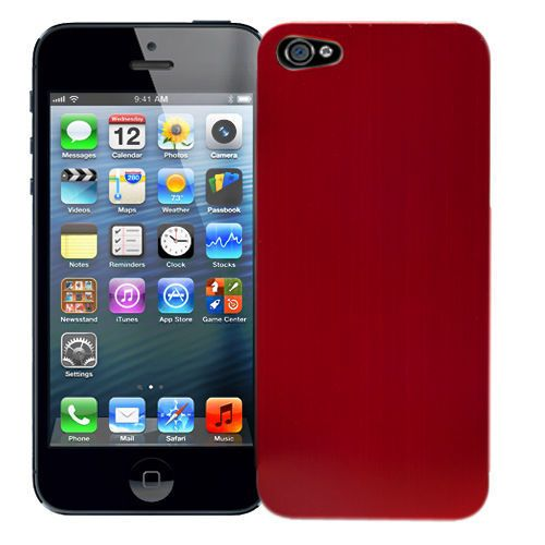 "Чехол для iPhone 5 ""Red"", серия ""Metal Texture"" Kawaii купить"