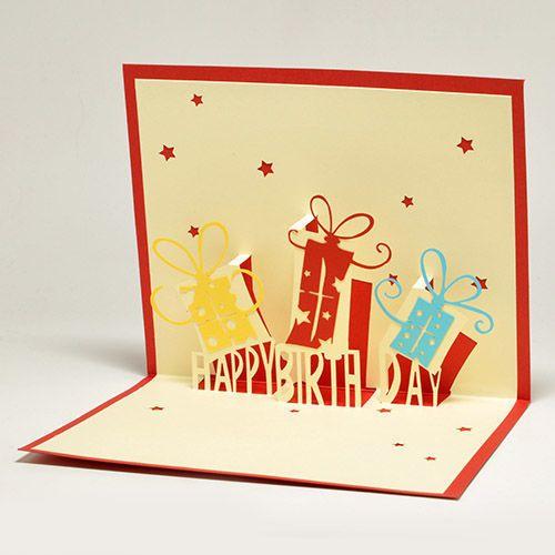 Объемные открытки лучшему другу, для девушки