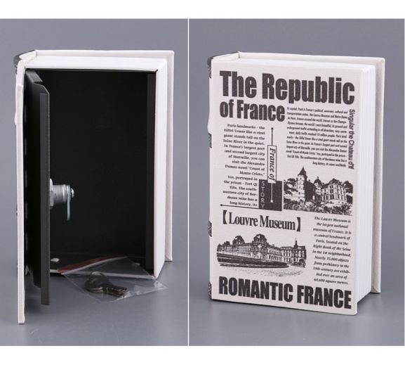 Сейф в виде книги «The Republic of France», 19x13x6 см купить