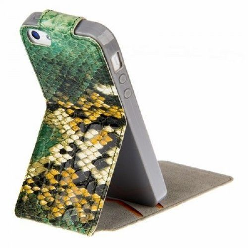 Чехол Kooso Melkco для iPhone 5C - Kooso Koka Flip case Sauvage collection Green snake купить