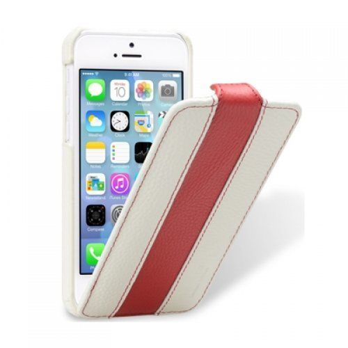 Чехол Melkco для iPhone 5C Leather Case Jacka Type Limited Edition (White/ Red LC) купить