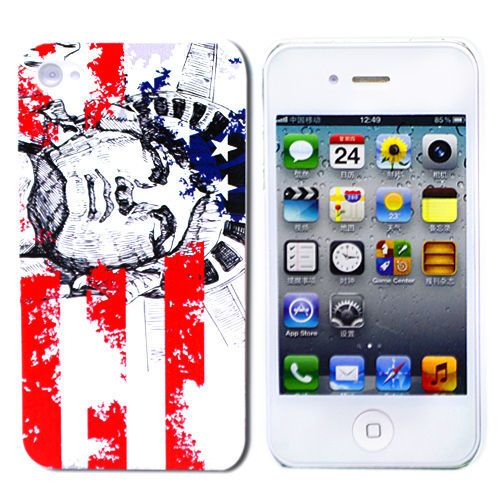 "Чехол для iPhone 4/4S ""Statue of Liberty"", серия ""Vintage"" Kawaii купить"