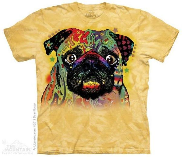 Футболка Colorful Pug купить