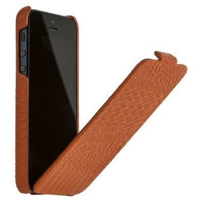 Кожаный чехол Borofone Crocodile flip leather case brown купить