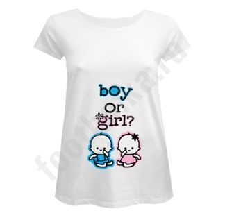 "Футболка для беременных ""Boy or Girl?"" купить"