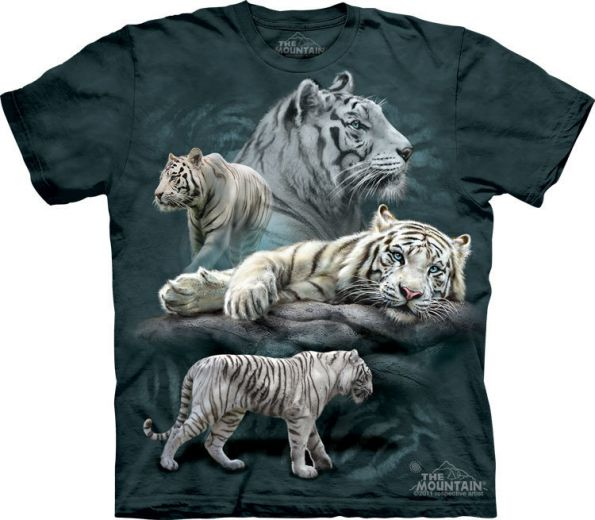 3D футболка White Tiger Collage купить