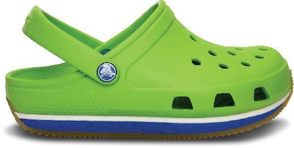 Сабо Kids Crocs Retro Clog Volt Green/Varsity Blue купить