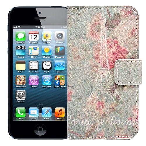 "Чехол-книжка для iPhone 5/5s ""Floral Paris"" купить"