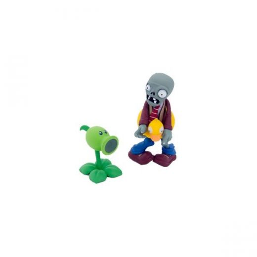 Фигурки Ducky Tube Zombie and Peashooter Plants (8см) купить