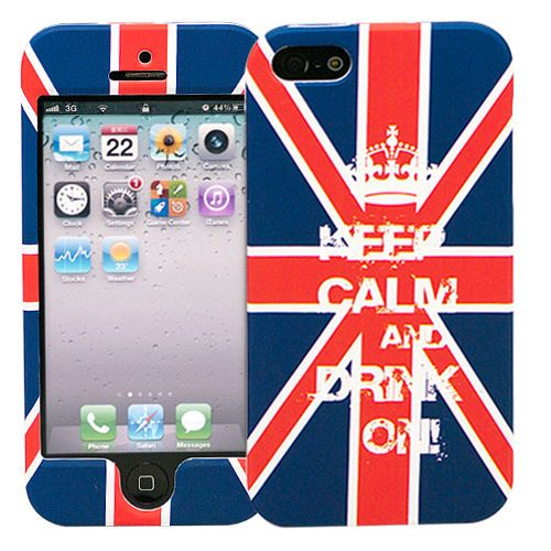 "Чехол для iPhone 5/5s ""Dual - Keep calm UK"" купить"