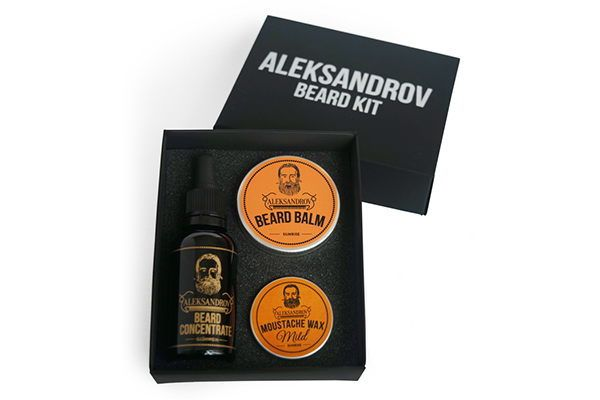 Набор для бороды Aleksandrov №5 (масло Beard Concentrate Glhwein, бальзам Sunrise, воск Mild Sunrise) купить