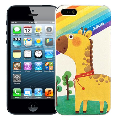"Чехол для iPhone 5/5s ""Cutie - Giraffe & rainbow"" купить"