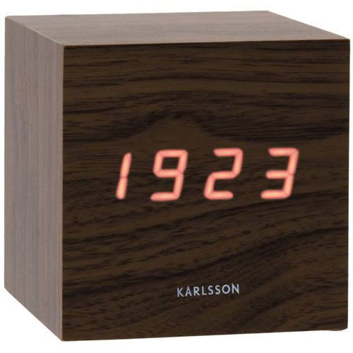 Будильник Karlsson Mini Cube Led Brown купить