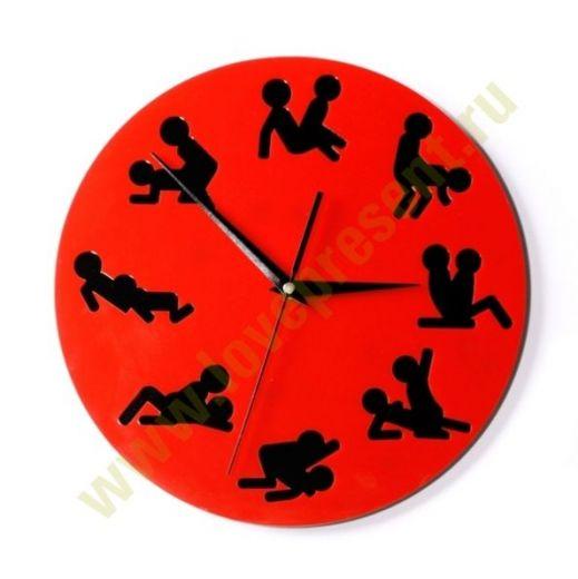 Часы камасутра настенные круглые черные Cl193ч 26х26см