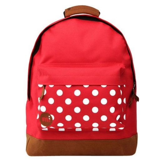 Рюкзак Mi-Pac Pocket Prints Polkadot Bright Red купить