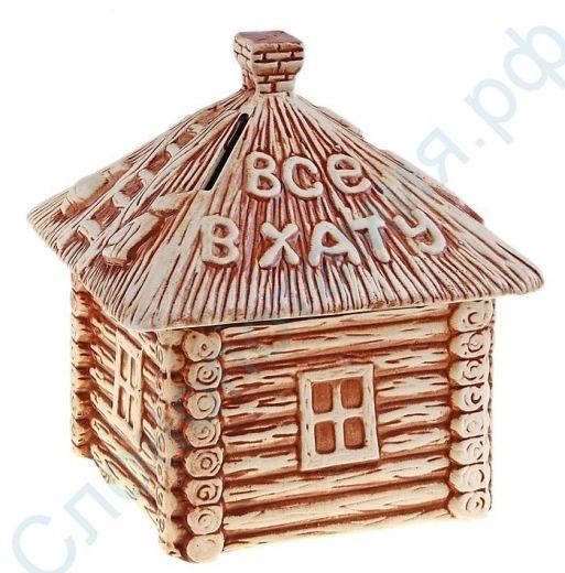 Копилка домик из картона