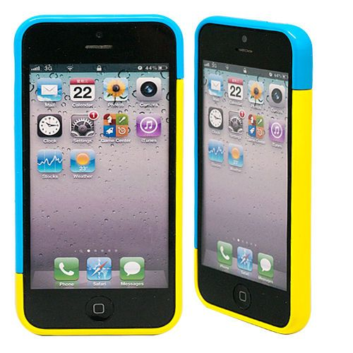 "Бампер для iPhone 5/5s ""Candy colors - blue & yellow"" купить"